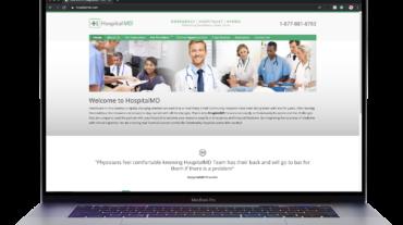 medical website laptop